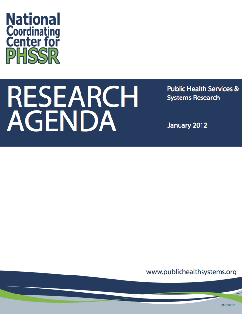 PHSSR Research Agenda Cover
